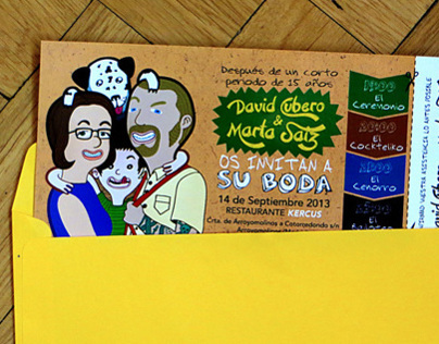 Wedding Invitation for David & Marta 2013