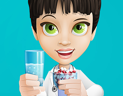 Physician Cartoon Character