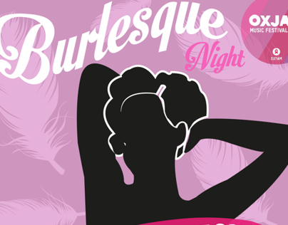 Oxjam Burlesque Night Poster