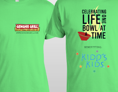 Kidds Kids shirt for Genghis Grill