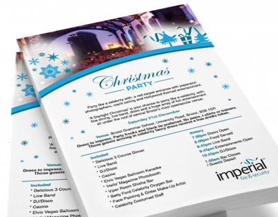 Imperial Fire & Security Christmas Flyer
