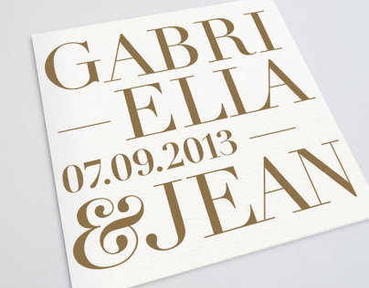 Gabriella&Jean wedding / 2013