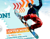 X Games microsite for Logitech