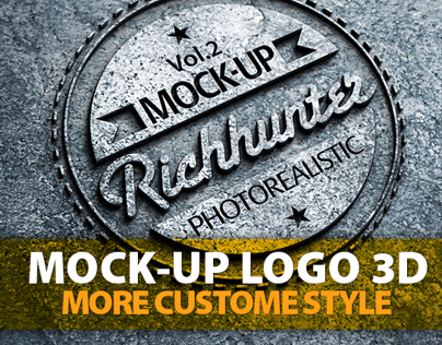 Photorealistic Logo 3D Mock-Up - Vol.2