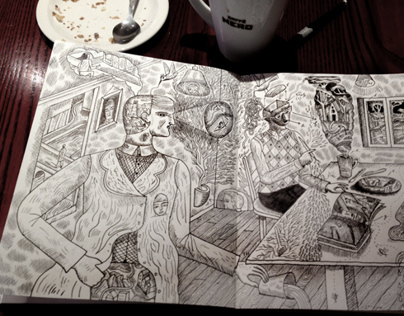 Sketchbook and Coffee III