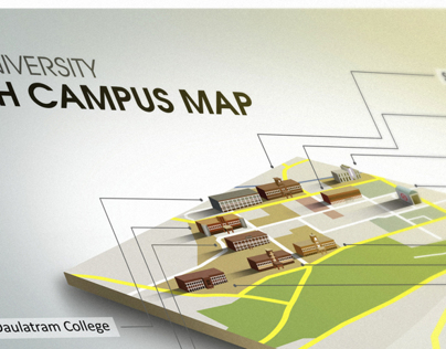 Isometric Map for Delhi University - North Campus-2013