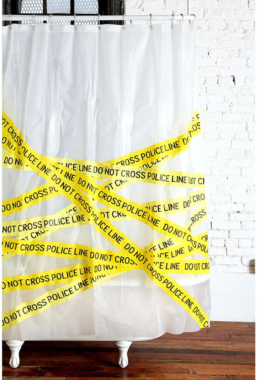 SHOWER CURTAIN POLICE LINE