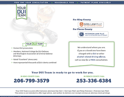 Your DUI Team | Gerl Law PLLC, Petersen Law PLLC