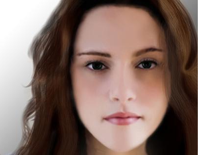 My beginning, Digital painting -Kristen Stewart