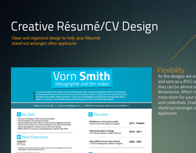Creative Resume/CV design