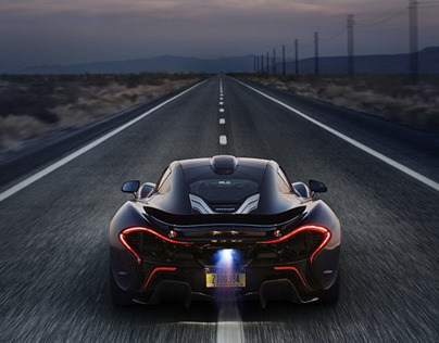 McLaren P1 Death Valley Shoot