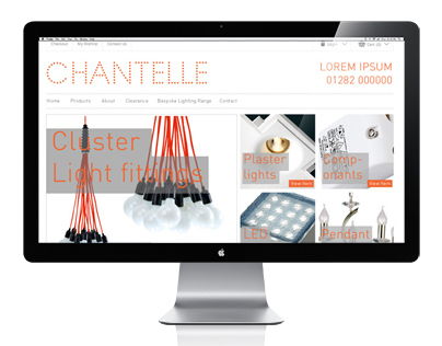 Chantelle Lighting website Layout
