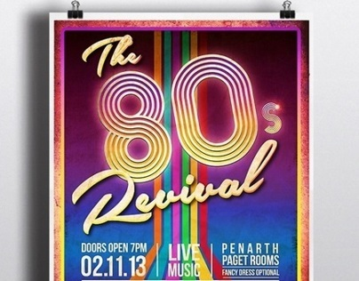 The 80s Revival event poster