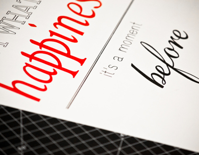 Mad Men Inspired Typography
