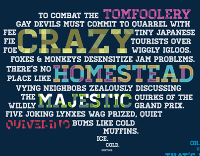 Type Sampler - Homestead