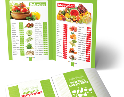 Sebze Meyve Kitapcığı - Vegetables and Fruits Booklet