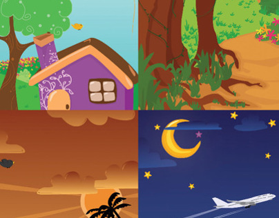 Vector Background for Company Game Development