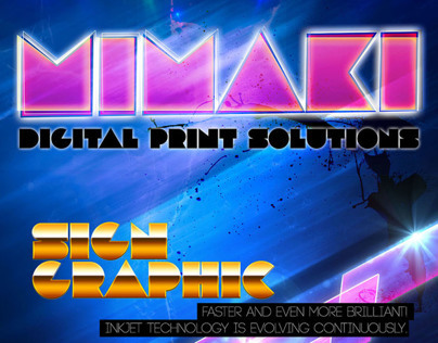 Typography for Mimaki Indonesia 2