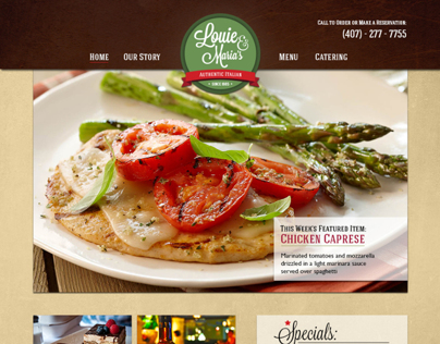 Louie & Marias Website Redesign