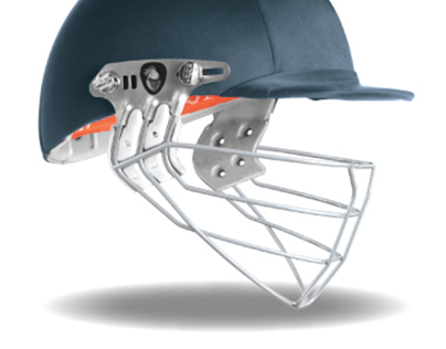 Albion Cricket Helmet, Face Shield Design