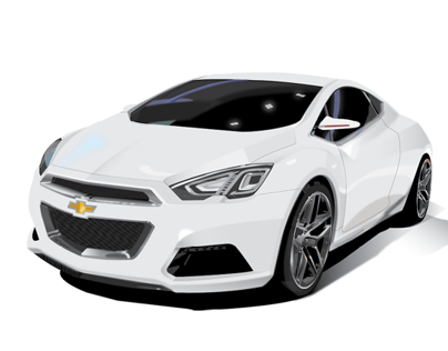 Car Illustration - Chevy Concept Car