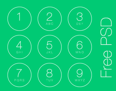 iOS7 Passcode Screen - free PSD