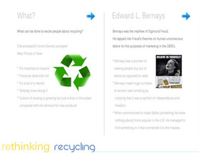 Rethinking Recycling Project - 3rd Year