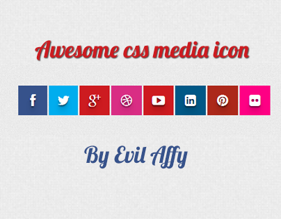 Awesome css social media icons with hover effect
