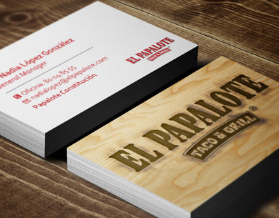 El Papalote Taco & Grill Business Cards