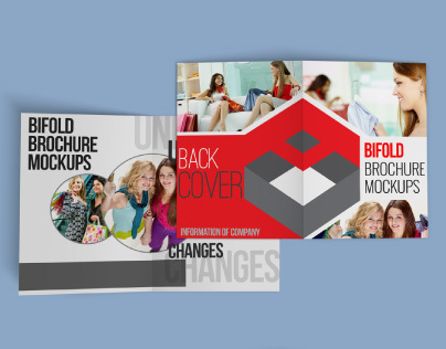 Bifold Brochure Mockups 4 Pages