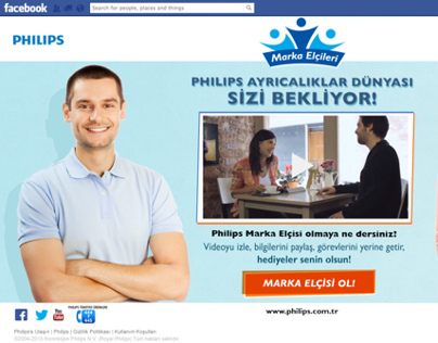 Philips Marka Elçileri Facebook Application