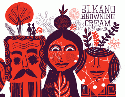 Elkano Browning Cream CD Design