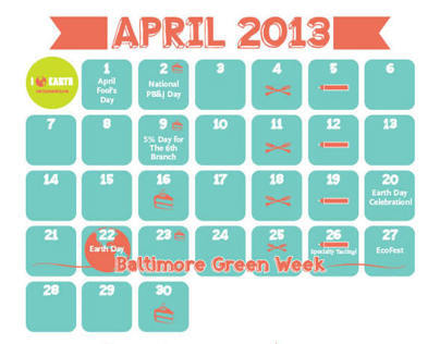 April Calendar for WFM Mt. Washington