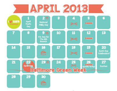 April Calendar for WFM Mt. Washington