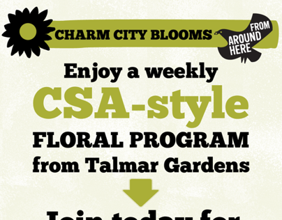 Floral CSA program for WFM Mt. Washington