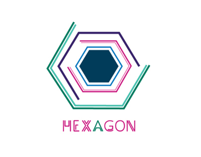 Wine Label - Hexagon