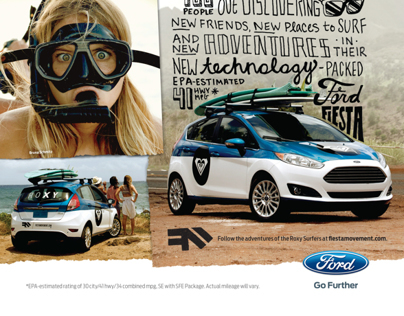 Ford Fiesta Movement Magazine Ads