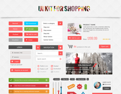 UI Kit for Shopping