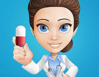Doctor of Medicine Cartoon Character