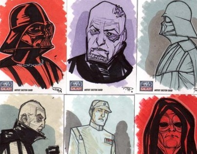 Star Wars Galaxy 7 sketch cards
