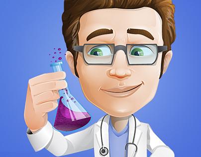 Clinician Cartoon Character