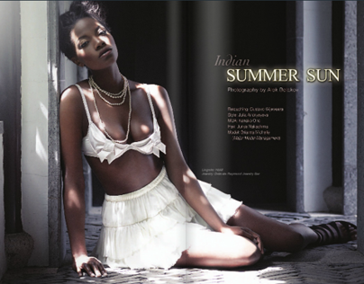 Indian Summer Sun for Vigore!  Magazine