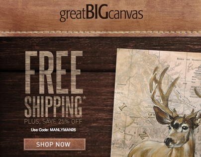 Great Big Canvas Man Cave Promo