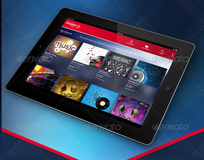 Tablet Application GUI Design - Tablet Uygulama Tasarım