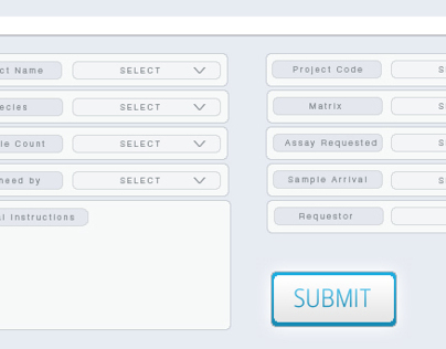 Biotech UI Project Management Forms