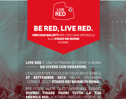 VODAFONE LIVE RED - FB APP