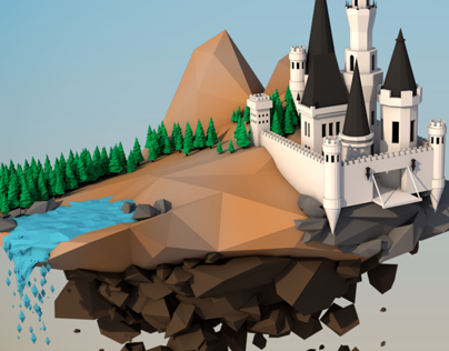 Low Poly Flying Kingdom