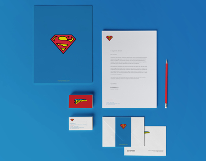 Super heros stationery