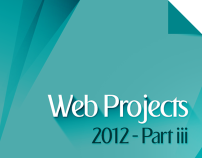 Web Projects 2012 Part III