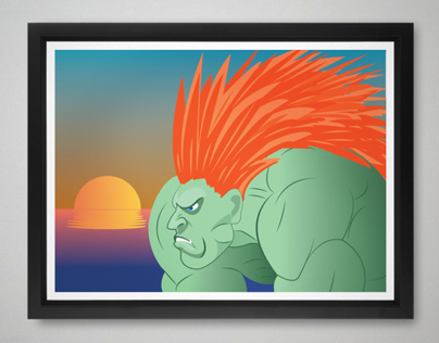 Street Fighter Blanka Illustration